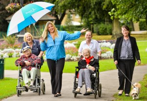Siobhan-Drane-Bupa-Care-Services'-partnerships-manager-blue-jacket-along-with-residents-and-staff-from-Bupa's-care-homes-Care-Industry-News-300-x-206
