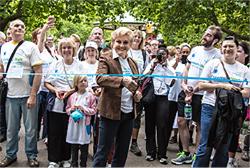 Angela Rippon Says 'Stop The Stigma' At Alzheimer's Society Battersea Park Memory Walk