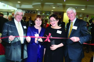 (L-R) Shaw healthcare chairman, Alun Thomas, councillors Pat Callaghan &andSarah Hayward, and Shaw healthcare chief executive Jeremy Nixey-1