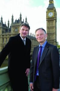 Tim Morris with Daniel outside HoC