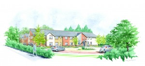 Artist's impression of the care home in Deeping St James