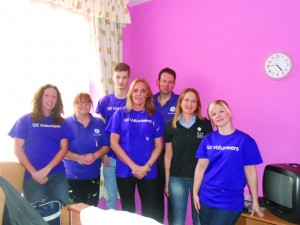 The volunteer team from GE Capital at The Peele Care Home