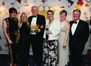Charity Awards 2014 LtoR_Sally Kettle_Liz Champion_Tony Searles_Liz Jewell_Amanda Gibson_Mike Goddings