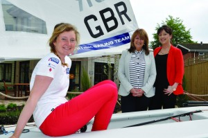 Olympic hopeful sets sail for Lymington care home open day