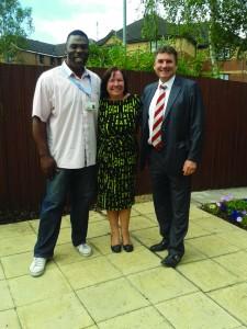 L-R Tony Henry, senior team leader at Sparrowfields, Jacqueline Rush, Ho...