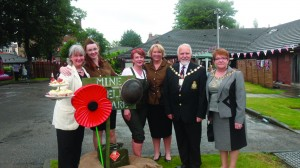 The team from Green Heys, including Manager Debbie Higgins (centre left) and the Mayor of Sefton, Cllr Kevin McCuskey