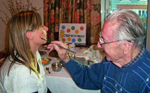 Care homes' totaliser shows £2,000 raised for Children in Need
