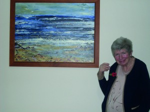 Patricia with art