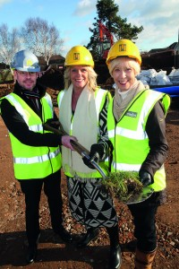 PHOTO 3 (L-R) Midas' Pre-Construction Director Phil McCabe with Care South Chairman Felicity Irwin and Chief Exec Susan Willoughby