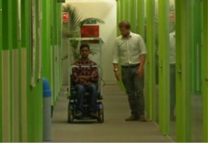 Wheelchair controlled by eyes