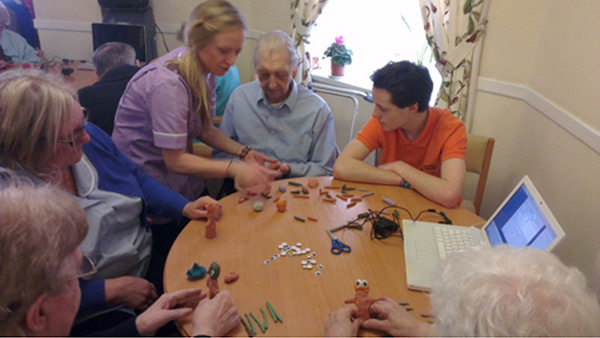 local care homes get creative with animation workshops
