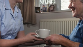Care Home resident Cup of tea