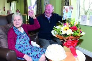 Peggy and Stanley Dawson celebrating their wedding anniversary