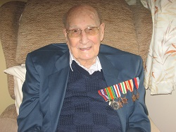 War hero Ralph Cox.