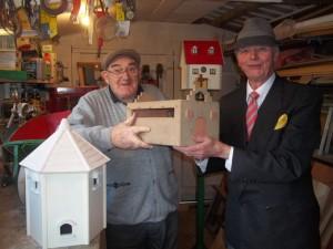 Mark Stott and Stewart Walder in Marks garden workshop