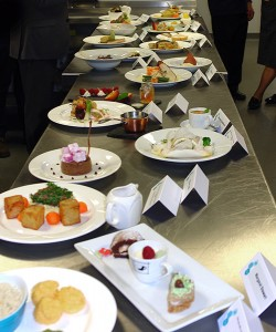 The finalists' dishes ready for judging.