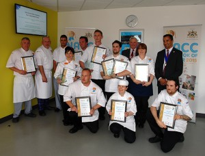 The regional finalists for the 2015 Care Cook of the Year Competition.
