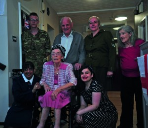 Spencefield Grange staff and residents