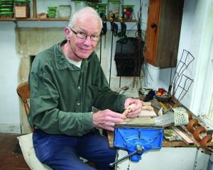 Robert Race in his workshop.