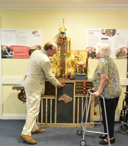 Sir Nicholas Mander, Bt, recently retired OSJCT Trustee for Gloucestershire, and resident Mrs Jean Reed.