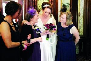 L to R ALEX, JULIE, TRACY and DEBBIE - TRACYS WEDDING