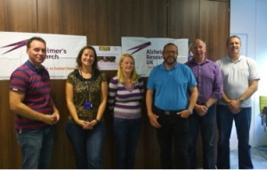 From left to right- Chris Ryder, Denise Ryder, Louisa Rowley, Craig Platt, Richard Farrer and Andy Parker are gearing up to take part in the Born Survivor challenge this weekend