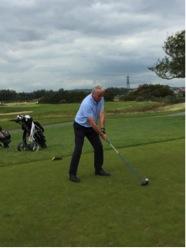 Golfer at Tee