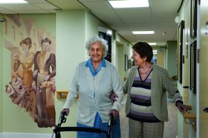 Gwyneth Dennison and Enid Taylor, tenants at Willowbrook in Bettws (2)