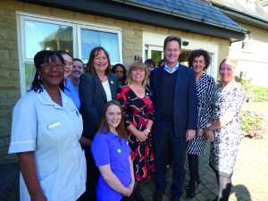 Nick Clegg and Hill Care staff