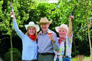 Colten Care's Kingfishers care home in New Milton held a cowboy themed summer barbecue as they welcomed back manager Rebecca Hannam after maternity leave.  Activity organiser Carlie Nicholas and Colten companion Jill Rennie with resident Jack Tolson.