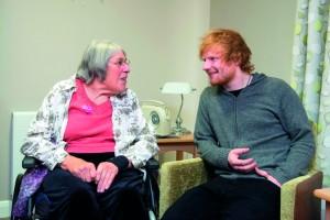 ED Sheeran chatting to Gillian Jones low res