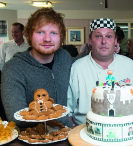 Singer Ed Sheeran visits his home town of Framlingham, Suffolk to open a new suite at Mill Meadow on October 20, 2015