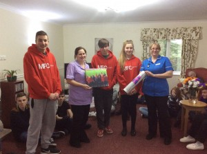 Middlesbrough FC teens at Mandale House