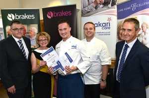 (L-R) Tim Pepper, of Brakes, Alison Boote, operations director at Akari Care, Michael Byrne, professional chef Will Devlin and Tony Stein, founder of Akari Care.