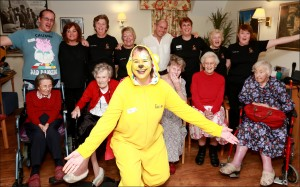 Residents at Colten Care's Fernhill Care Home at Longham were treated to entertainment from a tap dancing Pudsey Bear as part of the Children in Need fundraising activities. Organiser Karen Grant-A'Court was joined by the Fernhill Choir who sang some classic tunes whilst she took to the floor.