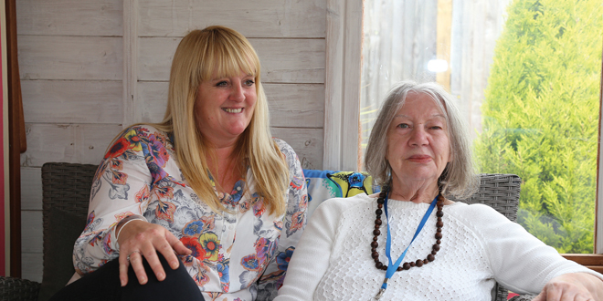 Amy Woodgate Dian and resident Oct15