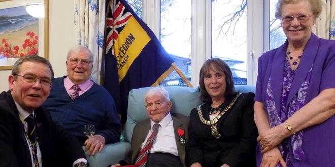 94 Year Old War Veteran Receives Prestigious Military Award At Ferndown Care Home