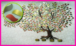 Memory Tree with leaves inset