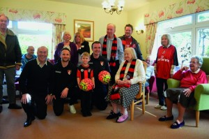 Care South's Elizabeth House residents enjoy visit from AFC Bournemouth Community Team (1)
