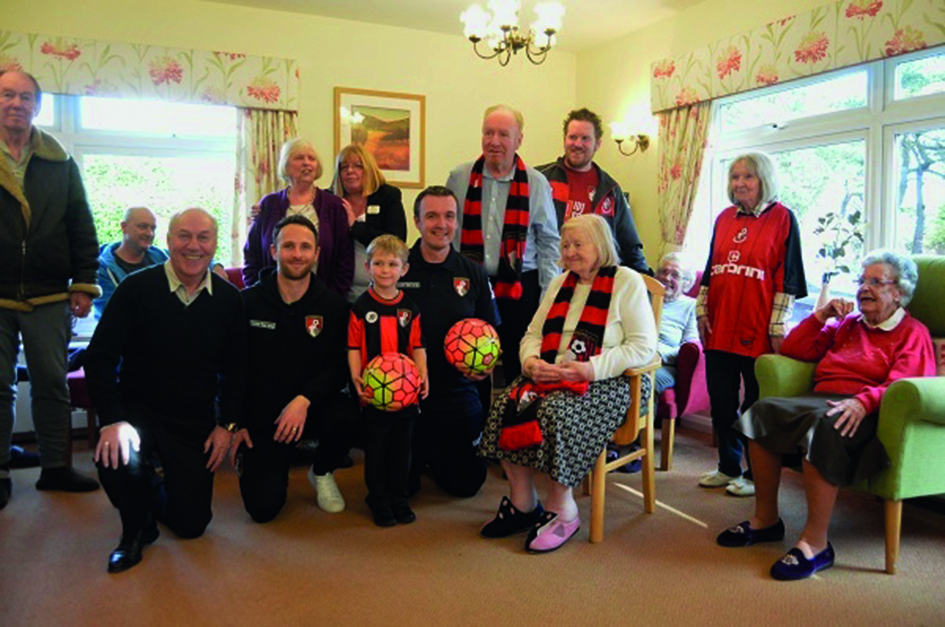Care Souths Elizabeth House residents enjoy visit from AFC Bournemouth Community Team 1