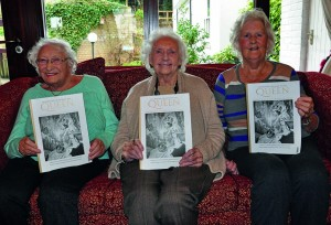 Royal celebration: Colten Care resident Mary Pyle (centre) with fellow residents Valerie Bull (left), Margaret Johnson and copies of the royal souvenir.
