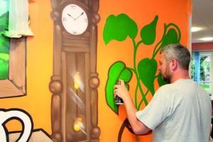 Close up of Bradley Woods, graffiti artist