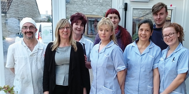 Staff at Arthurs Court celebrate their Your Care Rating score 1