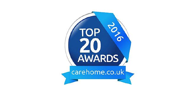 Carehome.co .uk Top 20 awards