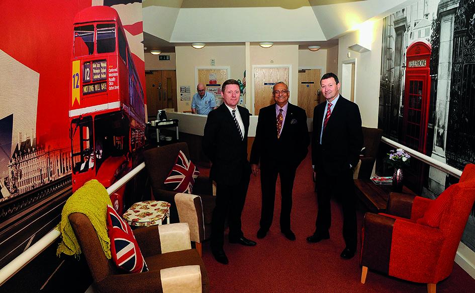 L R David Jeffery YB Dr Dilip Acquilla Bellevue Brian Lake YB at the Amara centre in Middlesbrough.