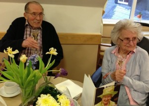 Stan and Agnes on their 72nd wedding anniversary.