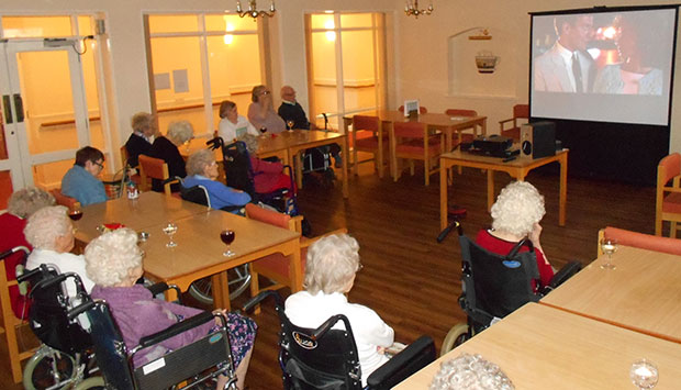 Residents at The Elms enjoy their first film club meeting