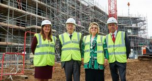 Care UK's Hannah Lee, Mayor of Windsor, Cllr John Lenton, Mayoress Margaret lenton and Castleoak's, Doug Jones