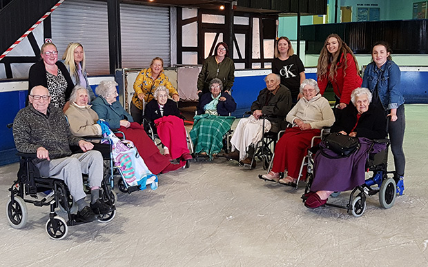 Care Home Residents Take To The Ice