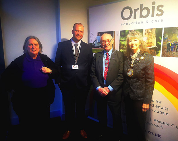 Head of Education Lilith Osborn Head of Care Steve Colley Tewkesbury Mayor Ruth Hatton and Mayor Consort Harry Turbyfield 2